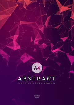 Abstract mesh background with circles, lines and triangular shapes