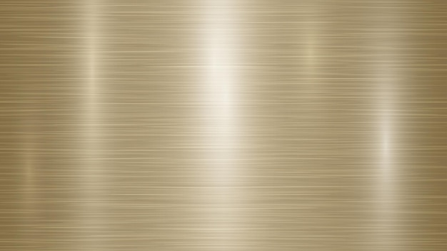 Abstract metal background with glares in golden colors