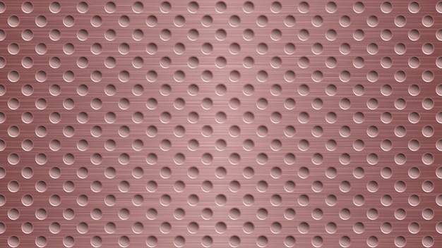 Abstract metal background with holes in light red colors