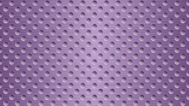 Abstract metal background with holes in purple colors