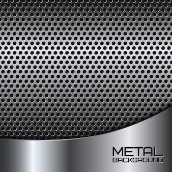 Abstract metal background with perforation