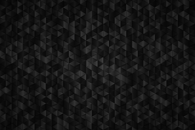 Abstract metal black of triangle geometric background.