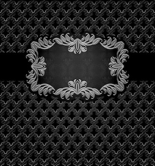 Abstract metal dark frame