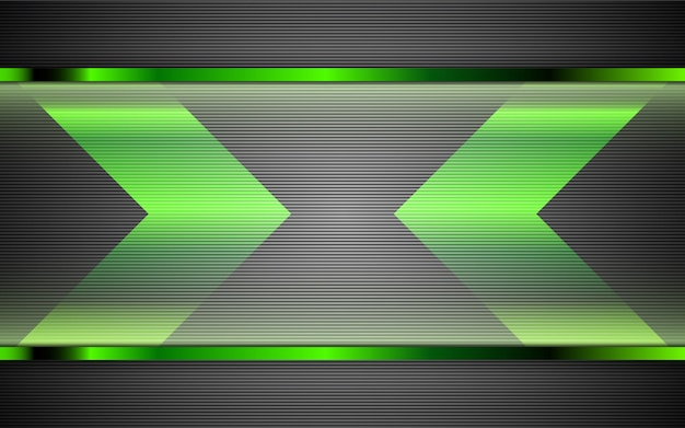 Abstract metal green shapes background