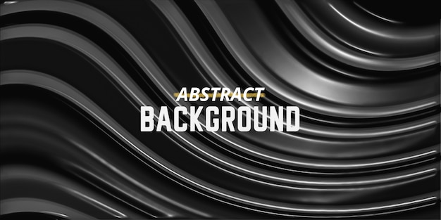 Abstract metal twirl background luxury black and white silver