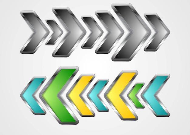 Abstract metallic arrows background. vector design illustration