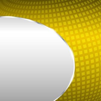 Абстрактный металлический фон с золотым элементом. векторная иллюстрация.