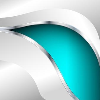 Abstract metallic background with turquoise element. vector illustration.