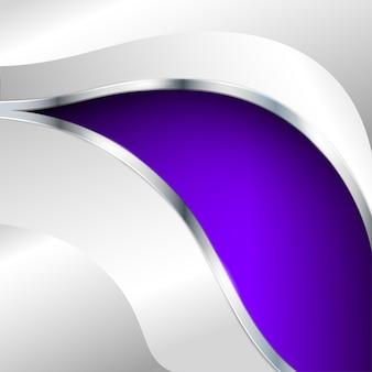 Абстрактный металлический фон с фиолетовым элементом. векторная иллюстрация.