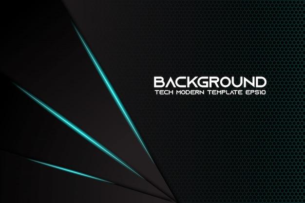 Абстрактный металлический черный фон современный технический дизайн