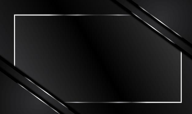 コントラストの縞模様の抽象的なメタリックブラックの背景。
