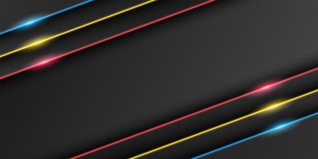 Abstract metallic black frame dark minimal background triangular overlap layer with light line