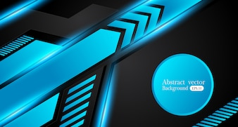 Abstract metallic blue black frame design innovation concept layout background