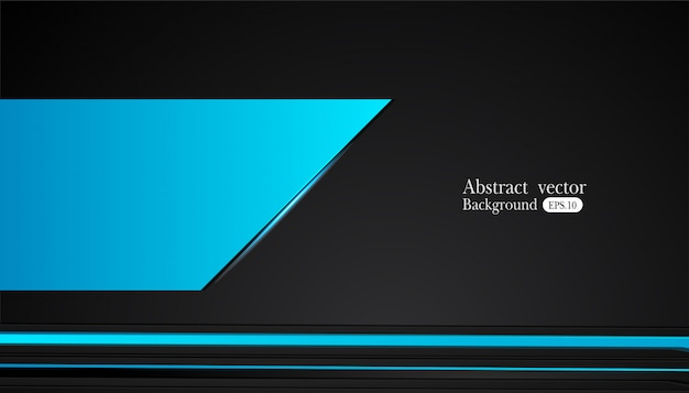 Abstract metallic blue black frame design innovation concept