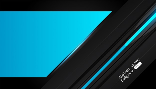 Abstract metallic blue black frame design
