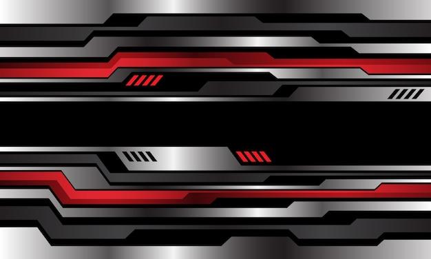 抽象的な金属サイバー技術の未来的な背景。