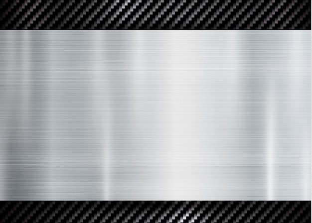Abstract metallic frame on carbon kevlar texture pattern