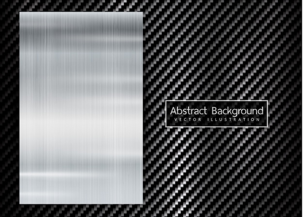 Abstract metallic frame on carbon kevlar texture