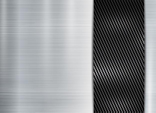 抽象的な金属フレームカーボンケブラーテクスチャ