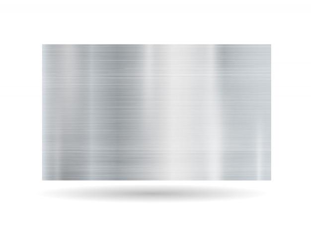 Abstract metallic frame on white background