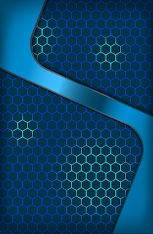 Abstract metallic hexagon blue innovation corporate concept background wallpaper