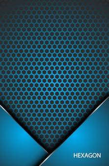 Abstract metallic hexagon innovation corporate concept background wallpaper