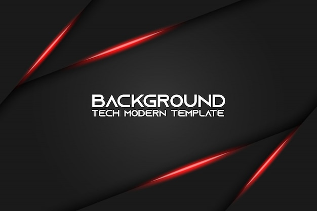 Abstract metallic red black background layout modern tech design