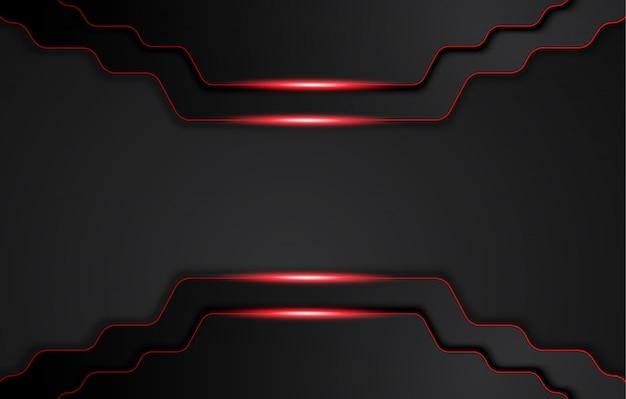 대비 줄무늬가있는 추상 금속성 빨간색 검정색 배경. 추상적 인 그래픽 브로셔 디자인