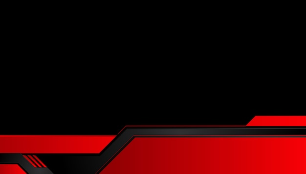 Abstract metallic red black background with contrast stripes. abstract vector graphic tech innovation concept