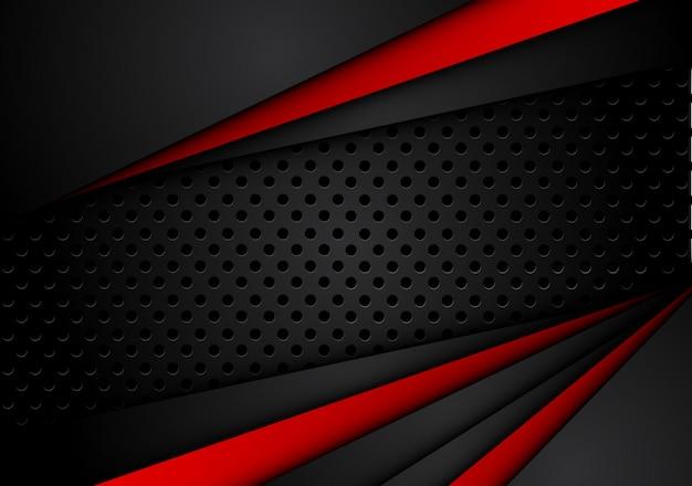 대비 줄무늬가있는 추상 금속성 빨간색 검정색 배경
