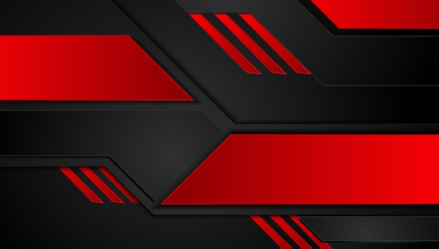 Abstract metallic red black background with contrast stripes
