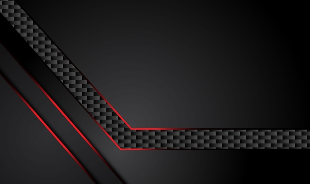 Abstract metallic red black design tech innovation concept background.