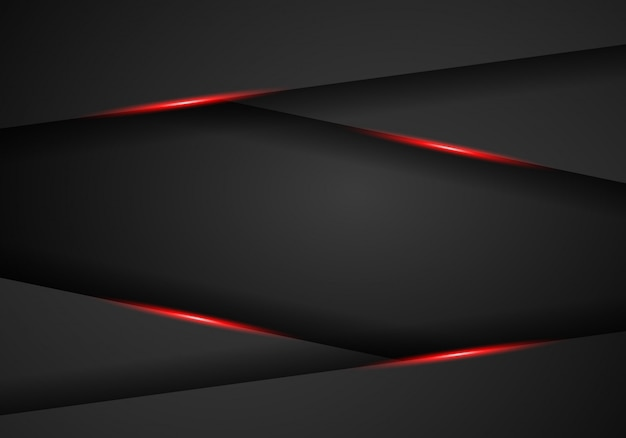 Abstract metallic red black frame layout background