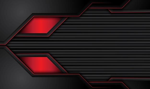 추상 메탈 릭 레드 블랙 프레임 레이아웃 디자인 기술 혁신 개념 background.vector.