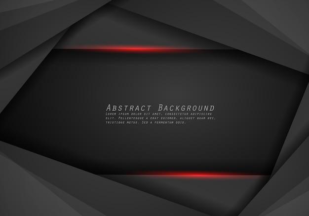 추상 금속 레드 블랙 프레임 레이아웃 디자인 기술 혁신 개념 배경