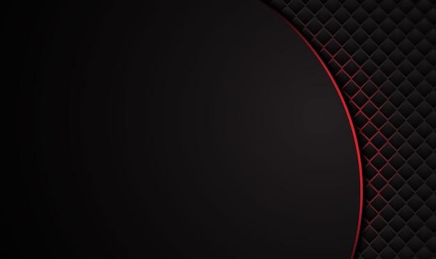 추상 금속 빨간색 검은 색 프레임 레이아웃 디자인 기술 혁신 개념 배경.