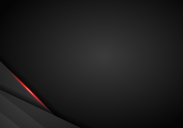 Abstract metallic red black frame layout design