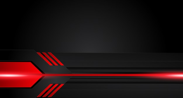 Abstract metallic red black frame