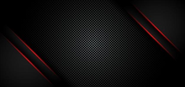 抽象的なメタリックの赤い光沢のある黒の背景