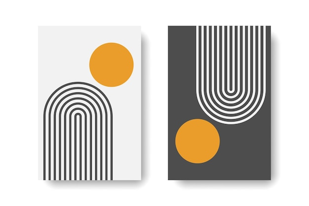 Abstract mid century concept wall art prints