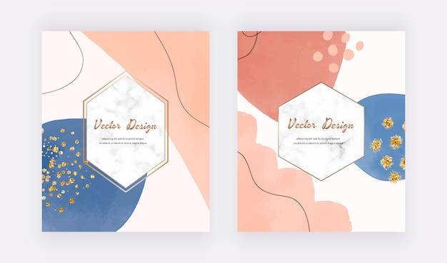世紀半ばの抽象的なデザインは、水彩の形、キラキラ紙吹雪でカバーしています