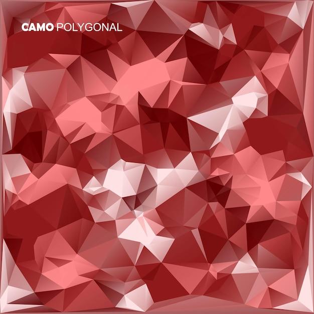 抽象军事伪装背景由几何三角制成塑造迷彩