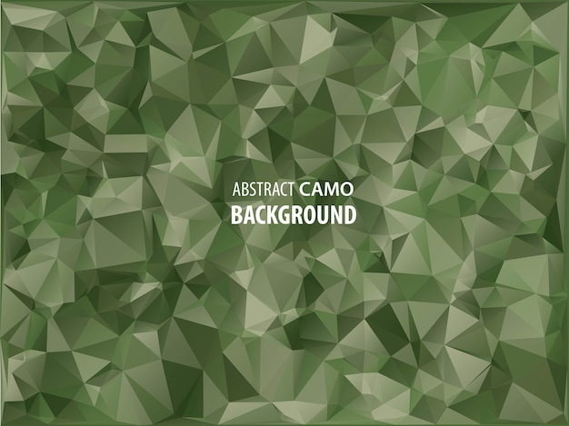Abstract military camouflage background made of geometric triangles shapes.