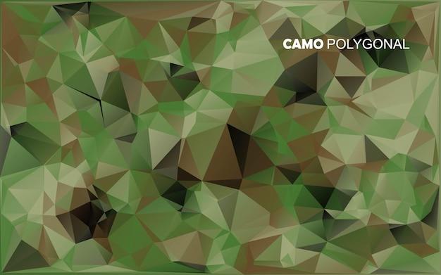 기하학적 삼각형 모양의 위장으로 만든 추상 군사 위장 배경