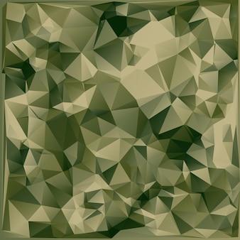 幾何学的な三角形の形で作られた抽象的なミリタリー迷彩の背景。多角形のスタイル。