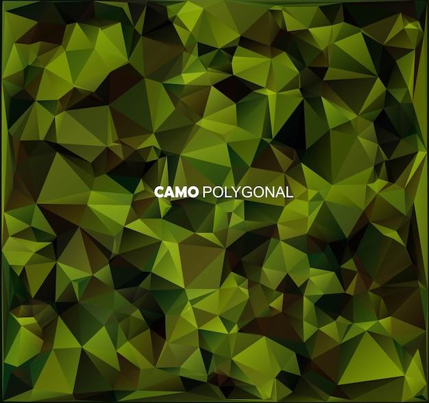 Абстрактный военный камуфляж фон из геометрических фигур треугольников.