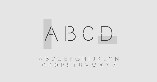 Abstract minimal alphabet concept