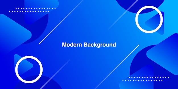 Абстрактный минимальный синий геометрический с градиентным фоном Premium векторы