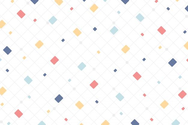 正方形のデザイン要素の背景の抽象的な最小限のカラフルなスタイル。