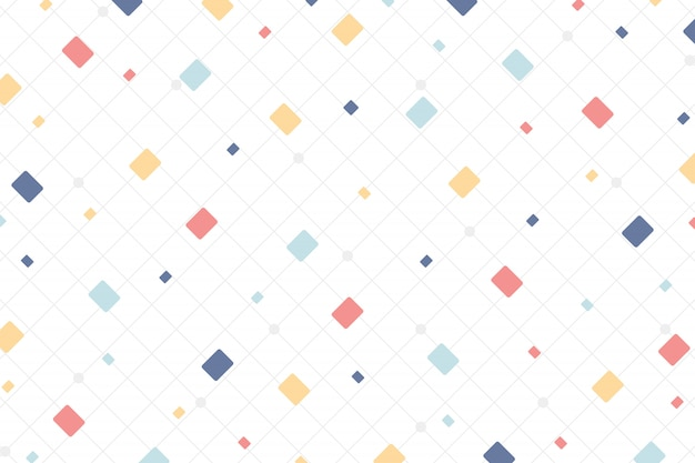 Abstract minimal colorful style of square design elements background.